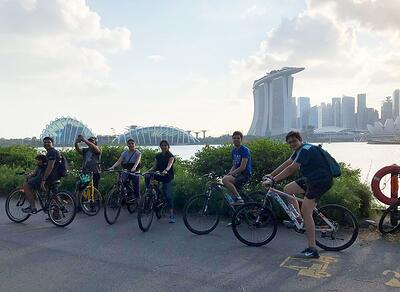 Cycling Across the East Coast Parkway - Alumni Community