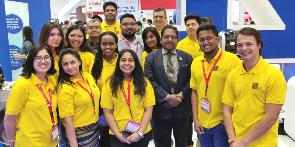 Team SP Jain School of Global Management – Dubai Campus with students at GETEX 2019