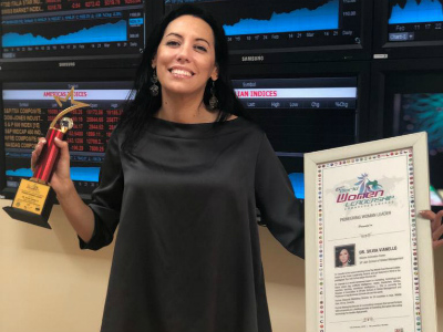 Dr Silvia Vianello wins Pioneering Woman Leader Award