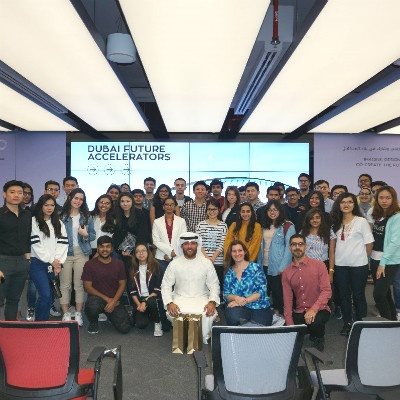 Undergraduate students interact with the world's leading innovators at Dubai Future Accelerators