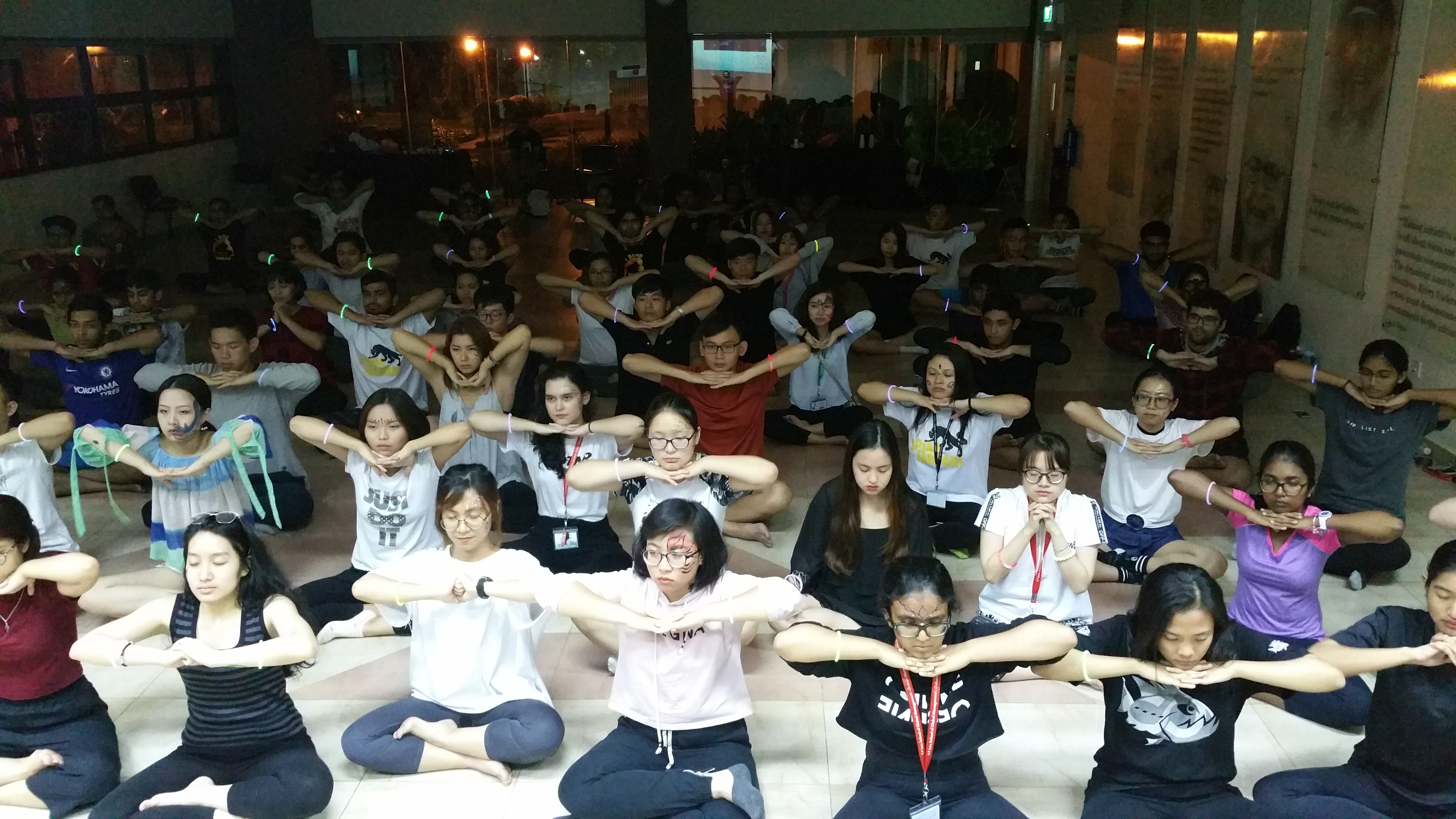 Bringing Colours, Fun and Music to Yoga at SP Jain Singapore