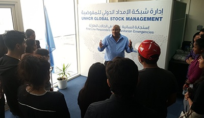 Visit to UNHCR, Dubai by the SP Jain Undergraduate Students