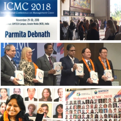 Parmita Debnath presents a Case Study at the International Conference on Management Cases 2018
