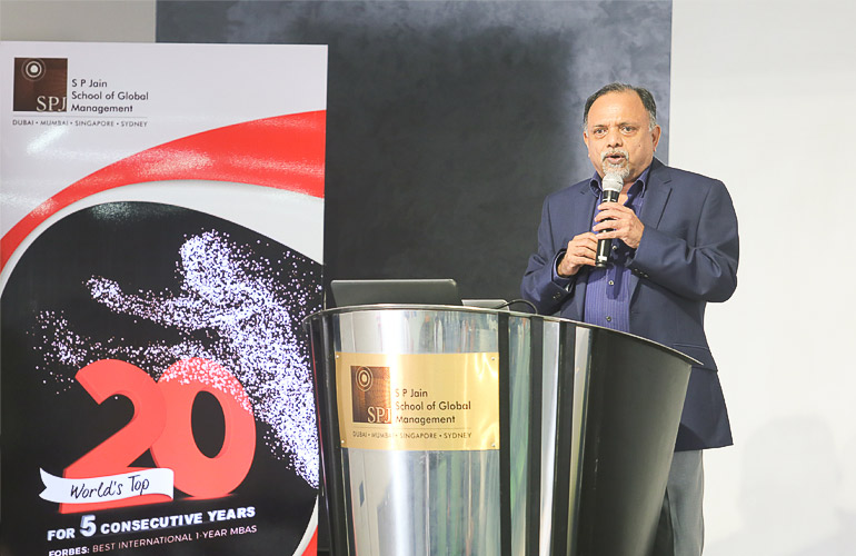 VK Menon, CEO and Head of Campus (Mumbai), SP Jain