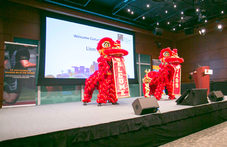 The event saw a high-energy cultural performance – the Lion Dance