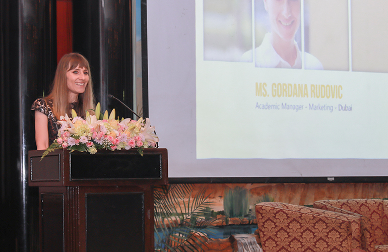 Gordana Rudovic, Academic Manager – Marketing, SP Jain, addresses the audience