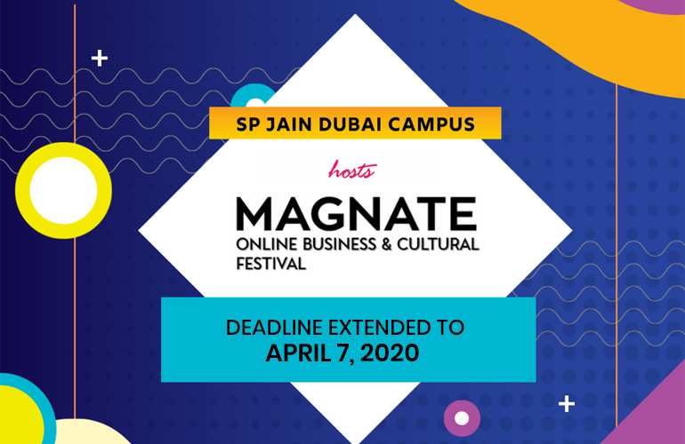 Participate in Magnate – SP Jain's Online Inter University Business & Cultural Festival