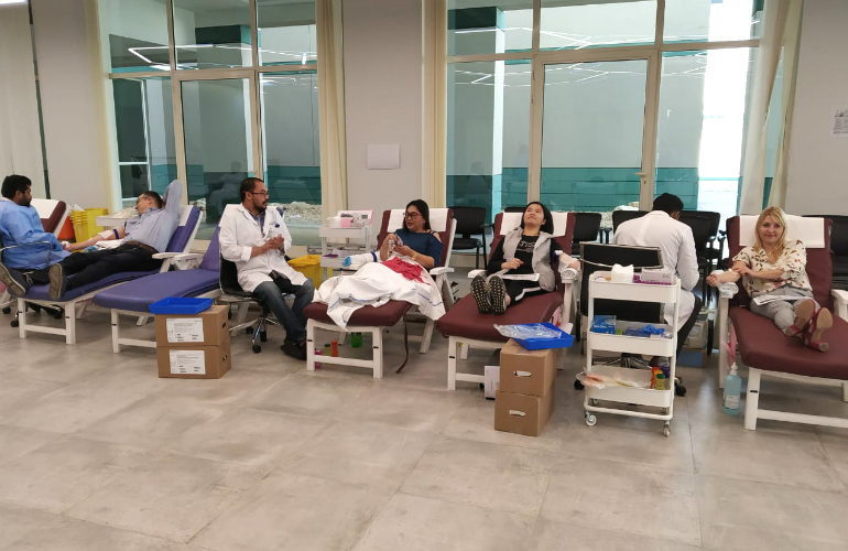 SP Jain's students and staff participate in the Blood Donation Drive
