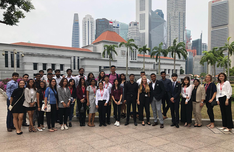 Global Learning: BBA students visit the Singapore Parliament