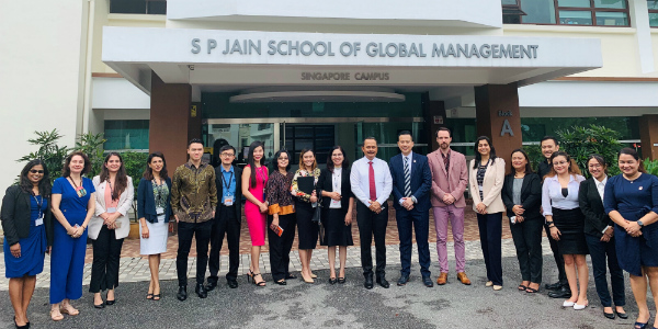 Ngurah Swajaya, Ambassador of Indonesia, visits SP Jain
