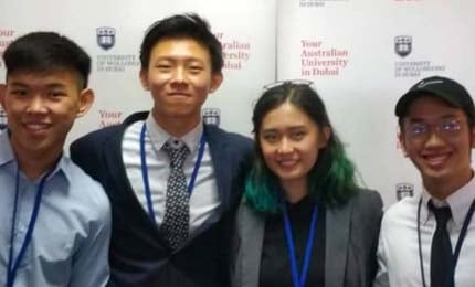 Jaguars excel at UOWD's International University Business Pitch Challenge