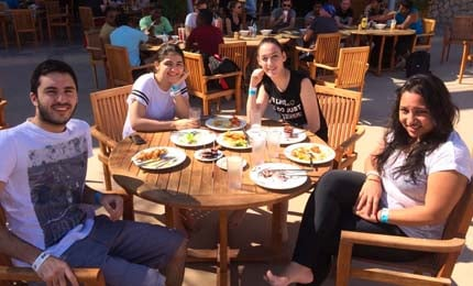 BBA students' fun-filled day at Wadi Adventure, UAE
