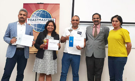 SPJ Toastmasters Club hosts its 2nd Annual Public Speaking Internal Club Contest in Dubai