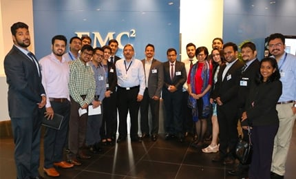Global MBA students visit the EMC Singapore office