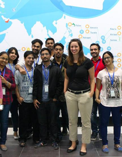 Postgraduate students visit Masdar City in UAE
