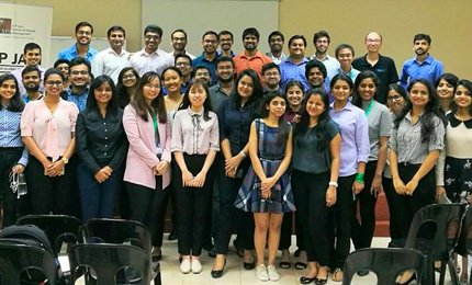 Postgraduate students attend a workshop hosted by Amazon Web Services