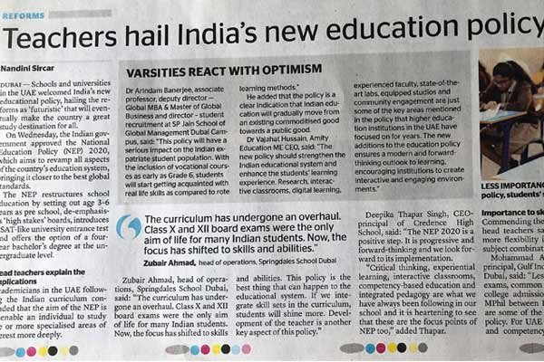 Teachers hail India's new education policy as futuristic