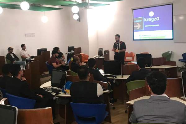Innovation Series: Nitin Bhalla, Founder of Kregzo, engages with students at Dubai campus