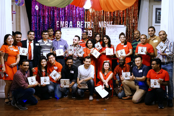SP Jain honours its EMBA students with a retro-themed Appreciation Night at Singapore campus