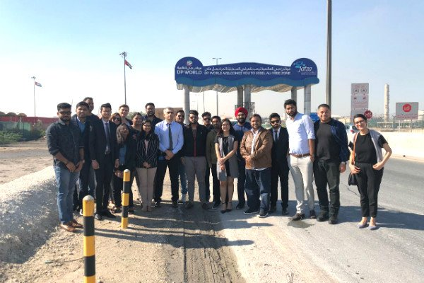 MGB students visit Jebel Ali Port, the world's largest man-made harbour