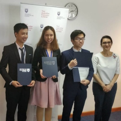 SP Jain's Jaguars excel at UOWD's International University Business Pitch Challenge